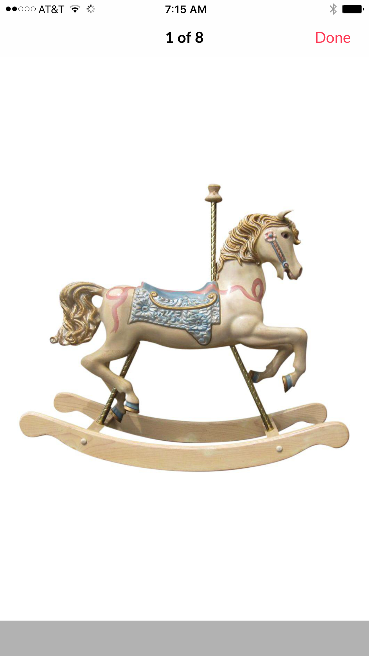 Large S S Carved Rocking Horse Good Better Best